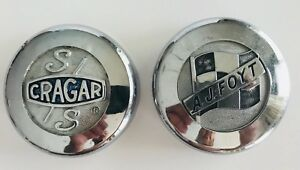 Vintage Lot Of 2 Wheel Center Caps Cragar Ss Aj Foyt
