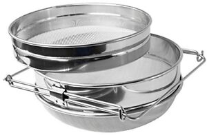 New Honey Strainer Double Sieve Stainless Steel Beekeeping Equipment Vivo Filter