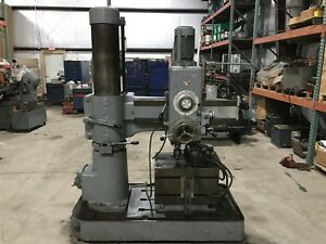 Caser 9 X 36 Radial Arm Drill W 24 X 18 Box Table Super Nice