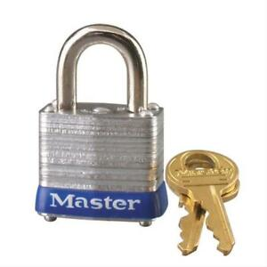 Master Lock 7ka Laminated Steel Body Keyed Alike Padlock 1 1 8 In Pack Of 6