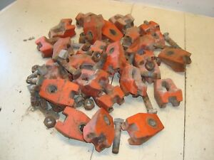 Case 1370 Tractor Rear Wheel Wedges Clamps