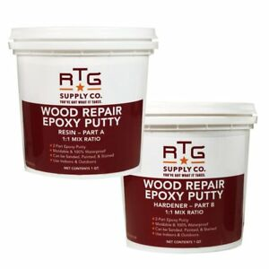 Rtg Wood Repair Epoxy Putty 2 quart Kit