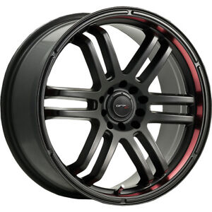 18x8 Drifz 207b Fx Black Wheels Rims 35 5x100 5x4 50 Qty 4
