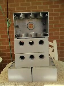 Set Of 5 Bell Weatherproof Outlet Box 7 Inlets