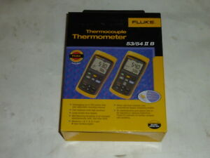 New Fluke 54 Ii B Thermocouple Dual Input Thermometer W Data Logging 54 2 B