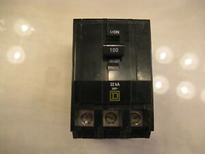 New Square D Qo3100 100 Amp 240v 3 Pole Plug In Circuit Breaker
