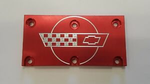 Tpi Lt1 Corvette Throttle Body Cover Plate Red C4