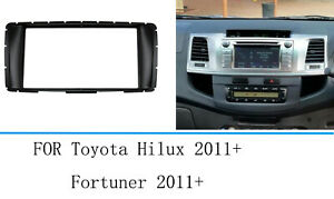 Car Stereo Radio Fascia Panel Frame For Toyota Hilux Fortuner 2012 2014
