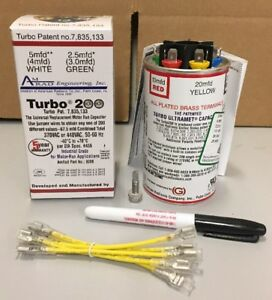 Turbo200 Universal Replacement Motor Run Capacitor Up To 67 5 Mfd 370 440vac
