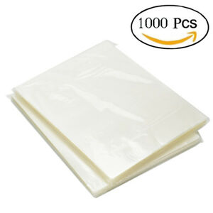 1000 Pk Thermal Laminating Pouches 3 Mil Heat Seal A4 Letter Size 9x11 5 Sheets