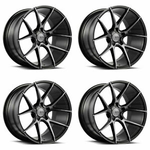 19 Savini Bm14 Tinted Concave Wheels Rims Fits Ford Mustang