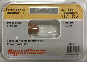Hypertherm Genuine Powermax 30 Xp Fine Cut Nozzles 420117 5 Pack