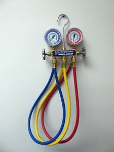 Yellow Jacket R12 R22 R502 Test Charging Manifold Gauges 36 Hoses Date 2017