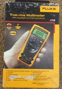Fluke 179 True Rms Digital Multimeter With Temperature Barely Used
