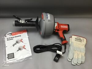 Ridgid Hand held Drain Cleaner With Autofeed k 45af