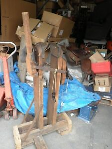Antique mid late 1800 s Broom Floor Clamp W trimmer rare