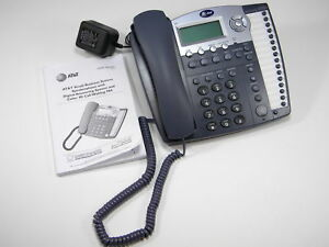 At t 984 4 Line Phone W Intercom Paging Answering Machine Auto attendant Working