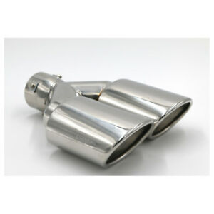 2 5 In 4 3 Out 10 Length Stainless Steel Exhaust Dual Pipe Tip Amg Style