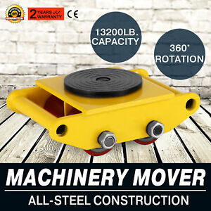 Industrial Machinery Mover With 360 rotation Cap 13200lbs 6t Quick Ship