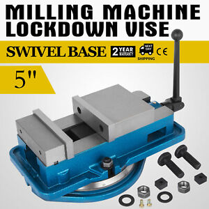 5 Milling Machine Lockdown Vise 360 Swiveling Base Precision Bench Top Removal