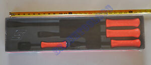New Snap On Orange Hard Striking Prybar 4 Pcs Set 8 12 18 24 Spbs704ao