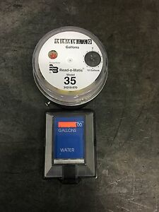 Badger Model 35 Water Meter Pulse Register And Remote Package Gallons