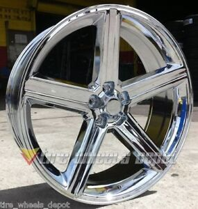 26 Inch Iroc Chrome Wheels Tires Nova Impala Bmw 5x120