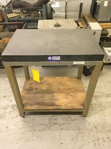 36 X 24 X 4 Granite Surface Plate With Stand