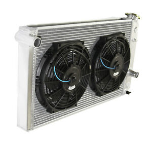 3 Row Performance Radiator 10 Fans For 82 02 Chevy S10 V8 Conversion Only