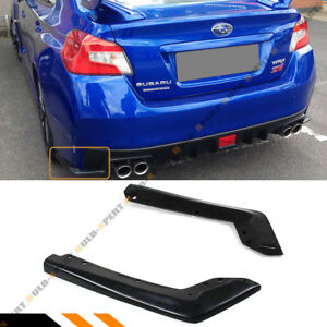 For 2015 2019 Subaru Wrx Sti Va1 Va2 2pc Jdm Style Rear Bumper Side Aprons Spats