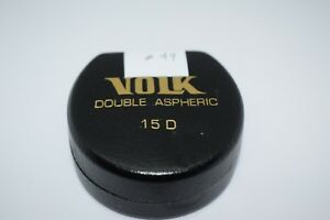 Volk 15d Fundus Lens Great For Bedside pediatric Optic Nerve And Macula Eval