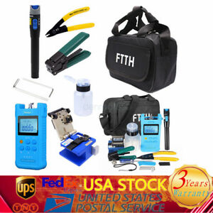 Fiber Optic Ftth Tool Kit Power Meter Fiber Clever Visual Fault Locator With Bag