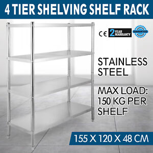 Heavy Duty Stainless Steel 4 tier Corner Shelf Garage Storage Shelving Rack