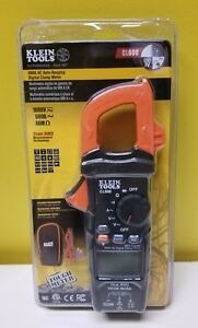 Klein Tools Cl600 600a Ac Auto ranging Digital Clamp Meter New In Packaging