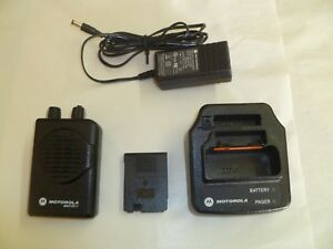 Motorola Minitor V Stored Voice 151 158 9 Mhz Vhf Fire Ems Pager W Charger Batt