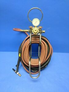 Profax Torch Handle Smith 41950d 580 Argon Gas Flow Meter Regulator Hoses holder