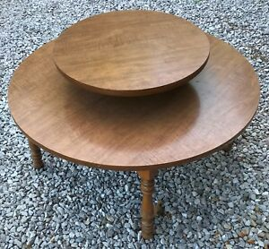 Vintage Atomic Mid Century Two Tier Table Round Lazy Susan Formica