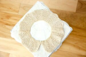Handmade Vintage Lace Collar With Button Clasp