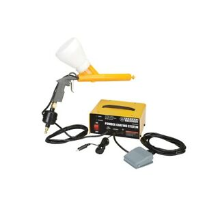 Powder Coating System Paint Gun Coat Kit W four One Pound Powder Colors