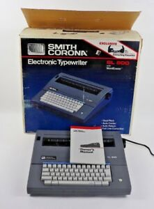 Vintage Smith Corona Sl500 Portable Electric Typewriter Tested