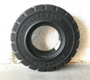5 00 8 Solid Rubber Forklift Tire 500x8 Black Non Flat Tire 3 00 Rim