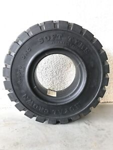 6 00 9 New Solid Rubber Forklift Tire Black 600x9 Non Flat Tire 4 Rim