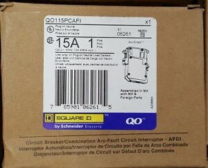 4 Square D Qo115pcafi Combo Arc Fault Circuit Breaker Plug On Neutral New
