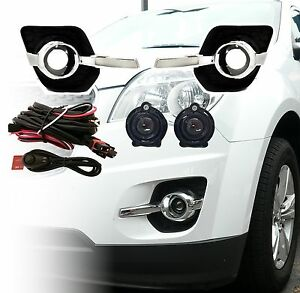 Aftermarket Fog Light Kit For 2010 2015 Equinox Lamps Bezels Harness Switch