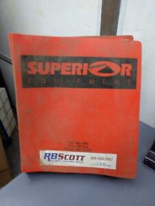 Superior 36 X 125 Portable Radial Stacking Conveyor Owners Manual
