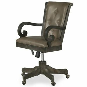 Magnussen Bellamy Upholstered Desk Chair In Weathered Peppercorn