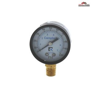 Water Pressure Gauge 100psi 2 New Fast Shipping