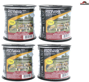 Electric Fence Wire Polywire 656 Ft 4 Spools New