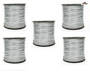 5 Electric Fence Wire Stainless Steel Polyethylene Set New