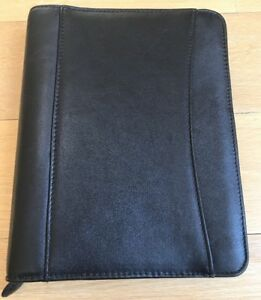 Franklin Covey Planner Organizer Calendar Black Zipper Nwot